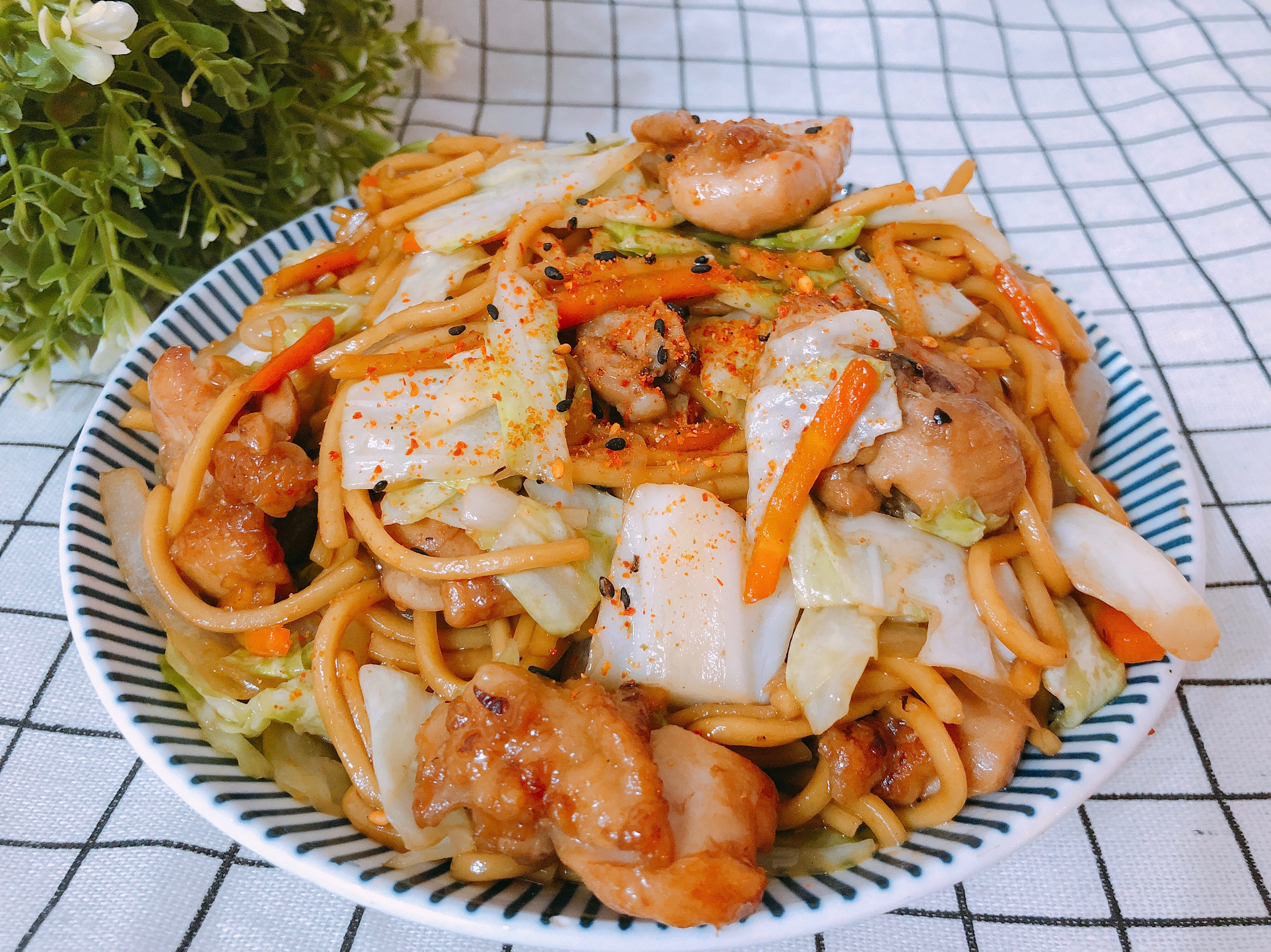 日式料理-照燒雞腿炒麵