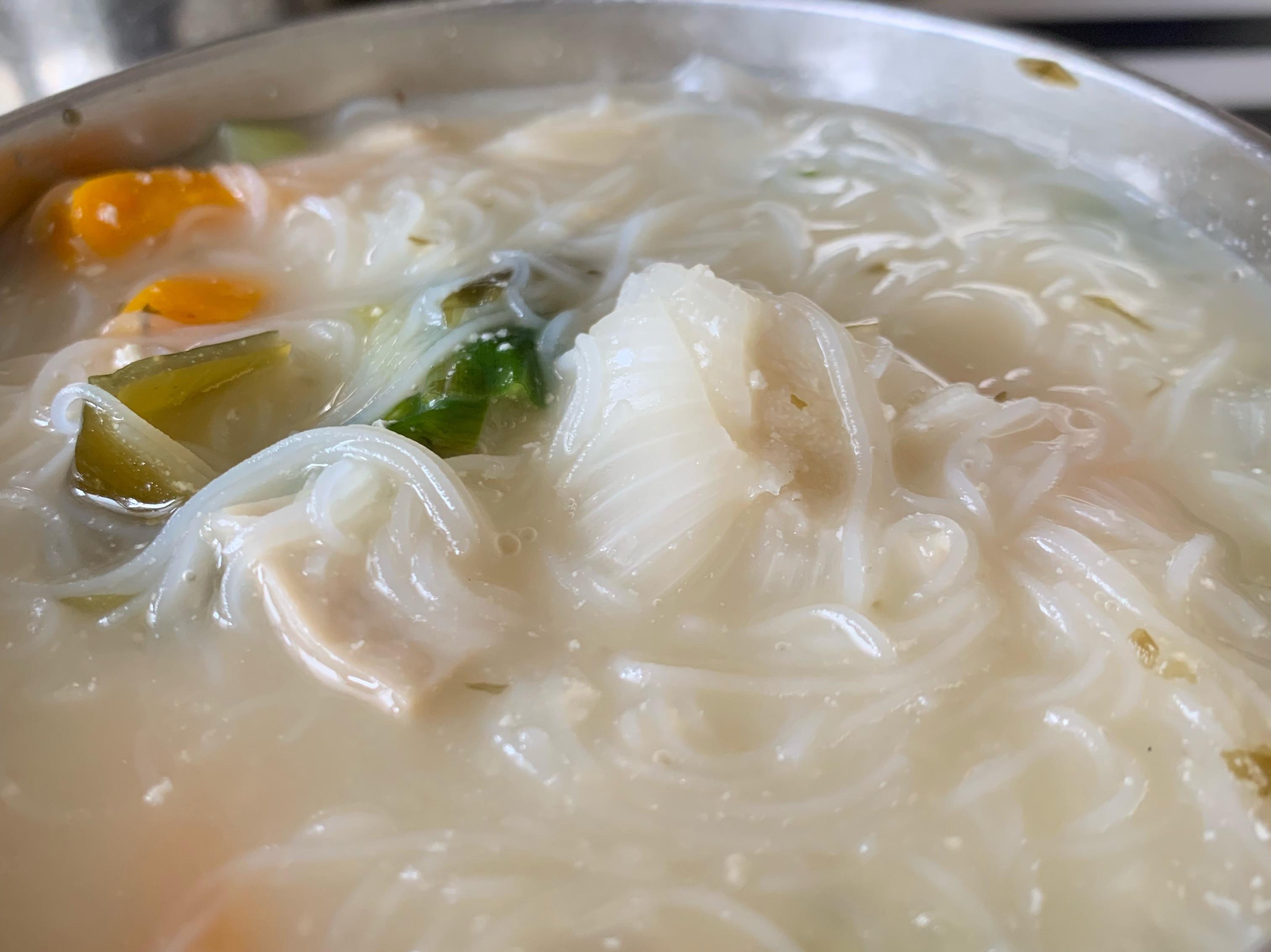 味噌米粉蔬菇濃湯