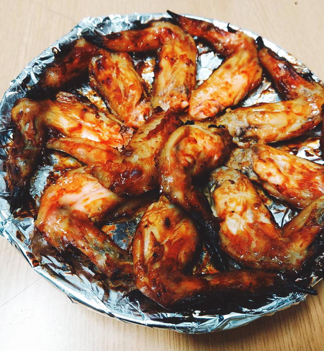 黃芥末風味烤雞翅