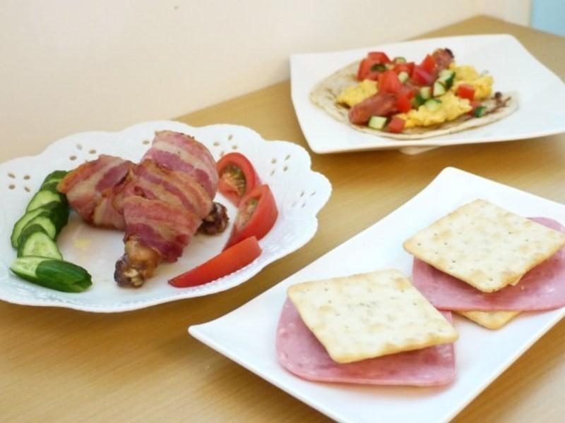 【博客】培根雞腿捲與火腿蘇打三明治