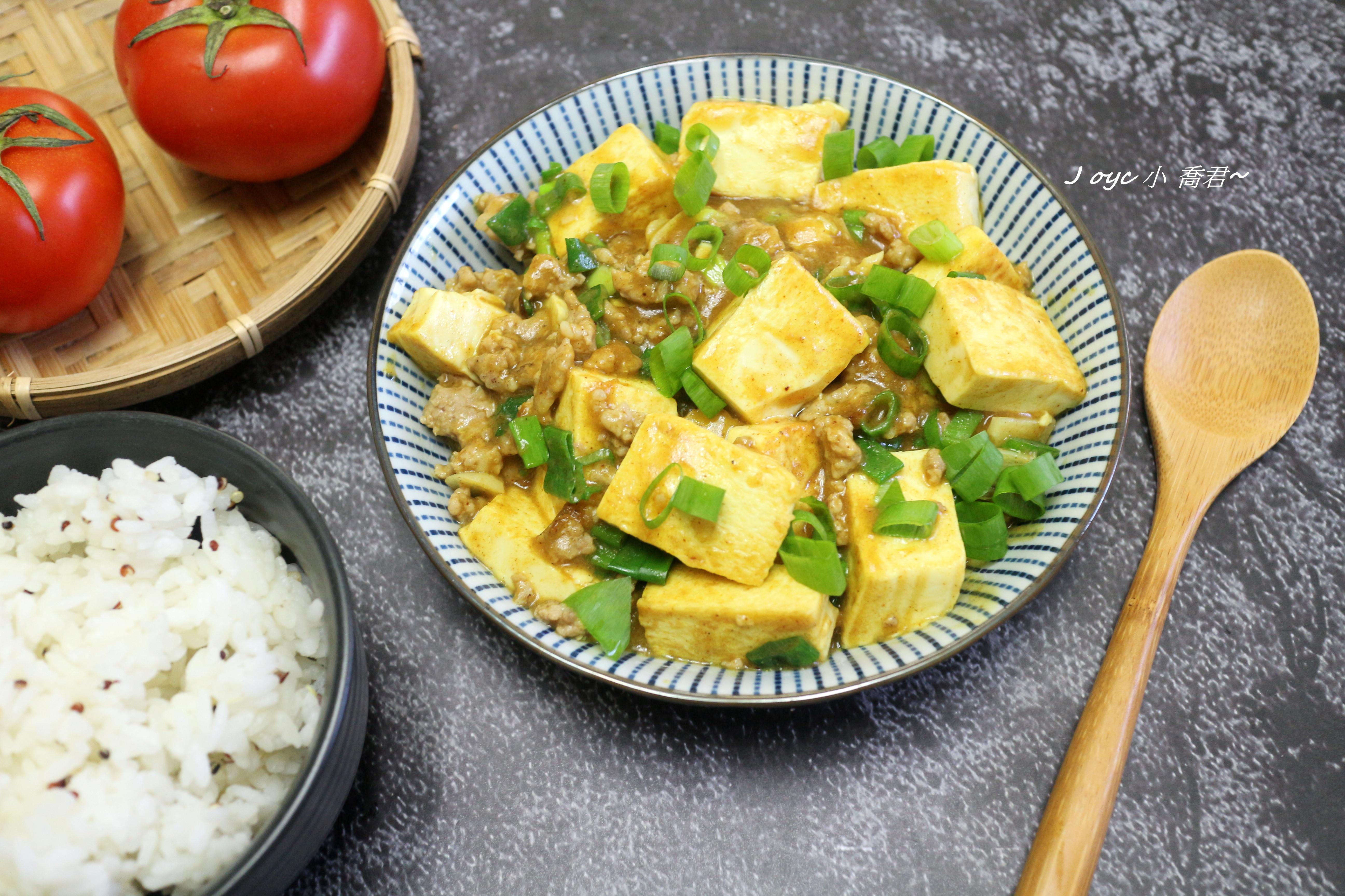 醬燒咖哩肉末豆腐【S&B金牌咖哩塊】