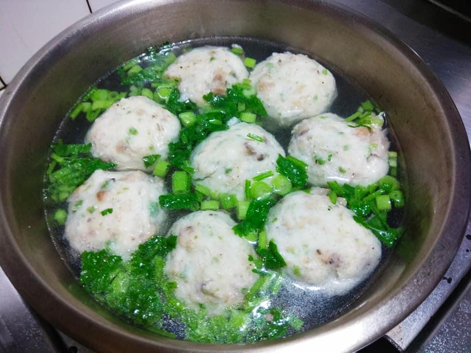 簡易家常菜-素丸子湯