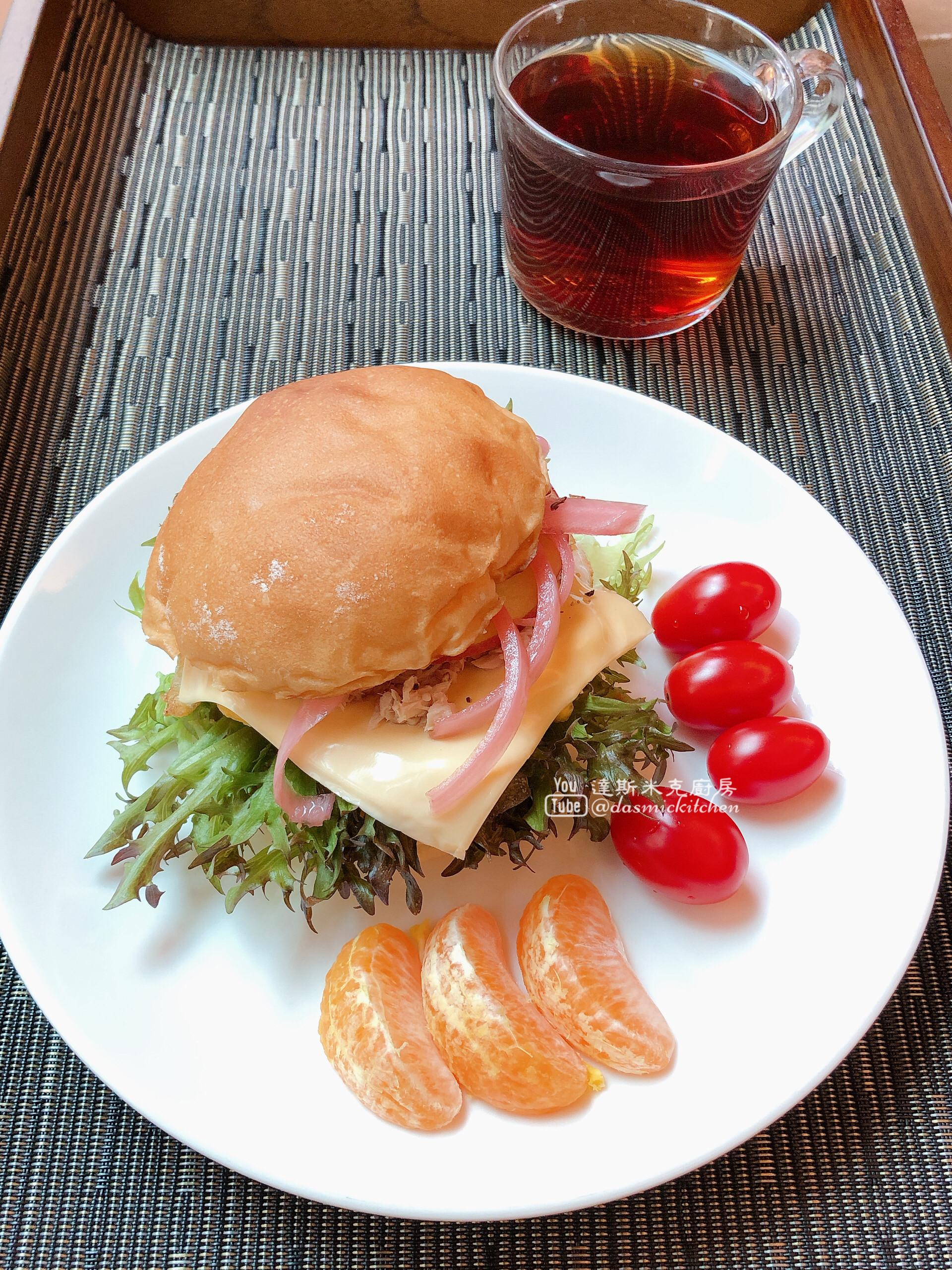 【早餐】簡易漢堡
