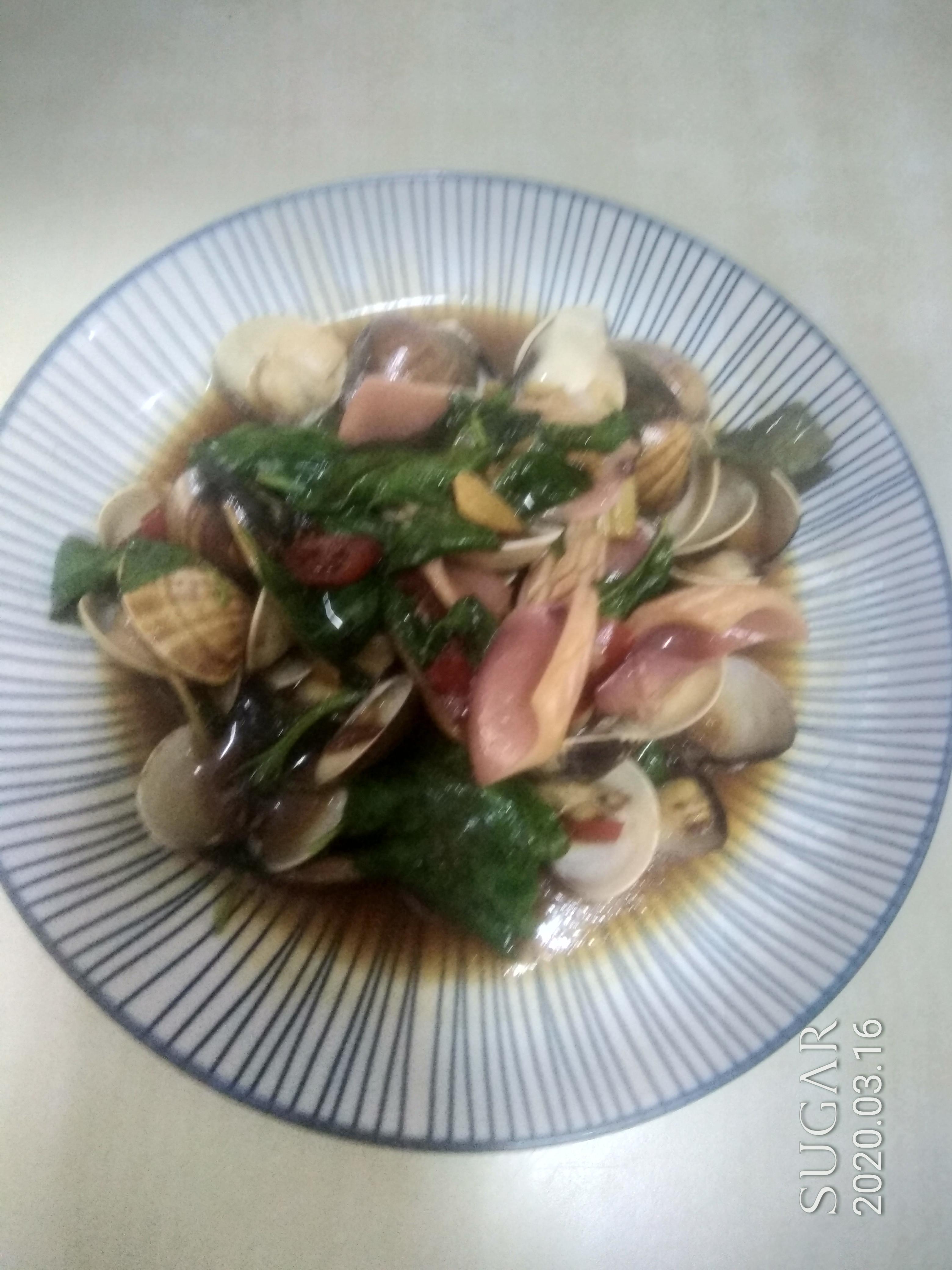 三杯塔香魷魚蛤蠣