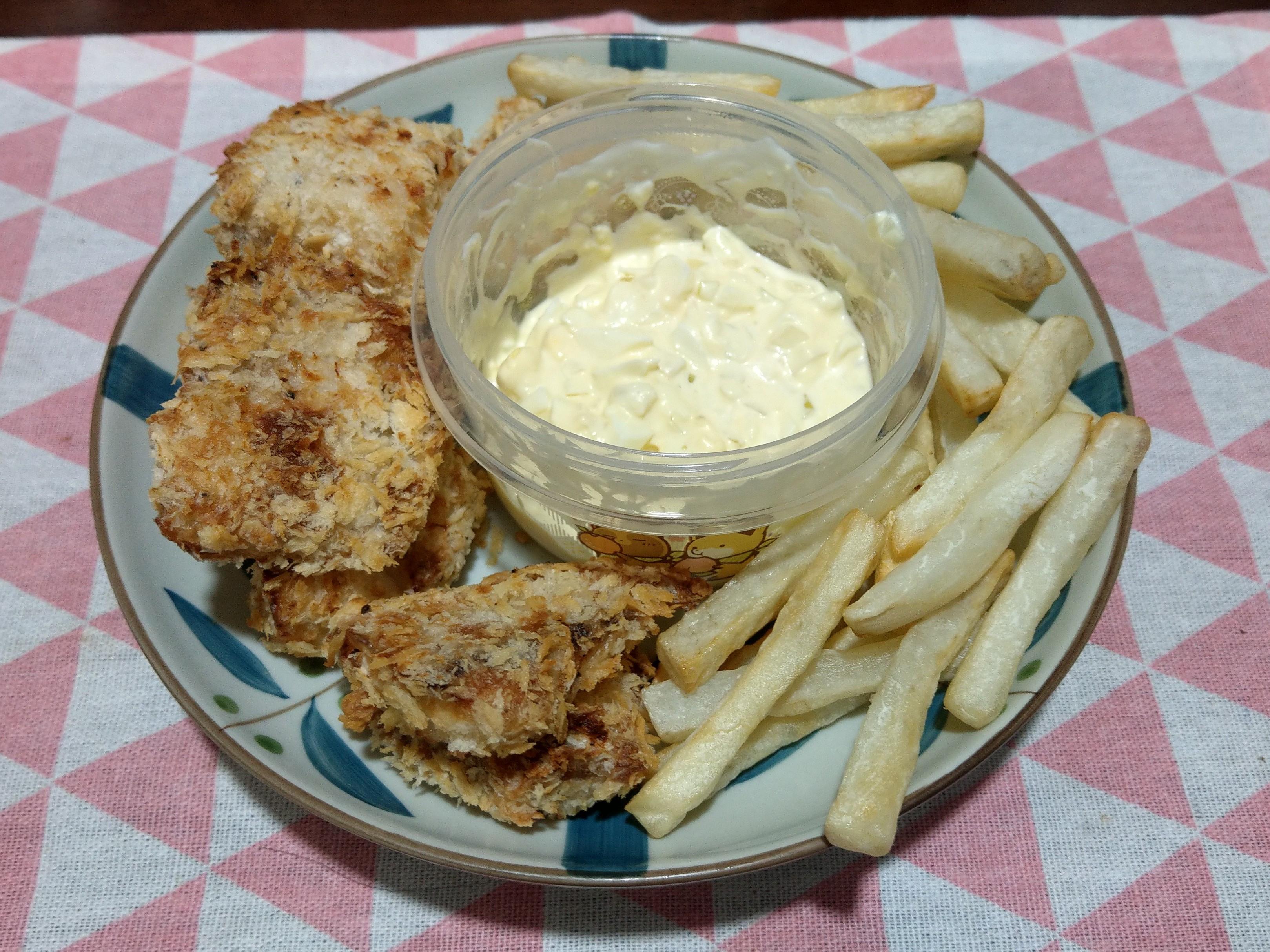 炸魚薯條 with 塔塔醬(氣炸鍋)