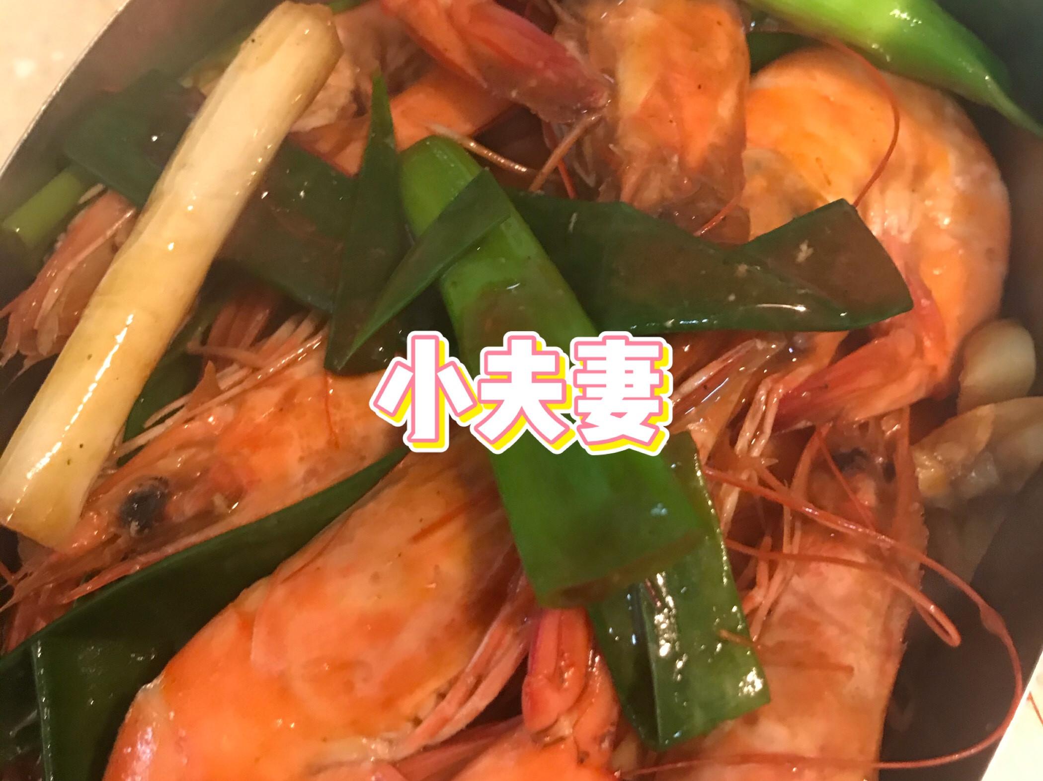 蔥爆蠔油炒白蝦