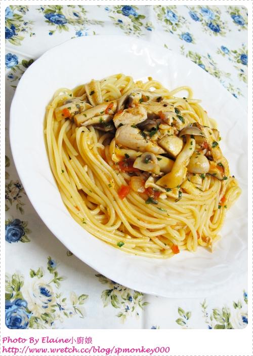 茄汁蕈菇雞肉義大利麵