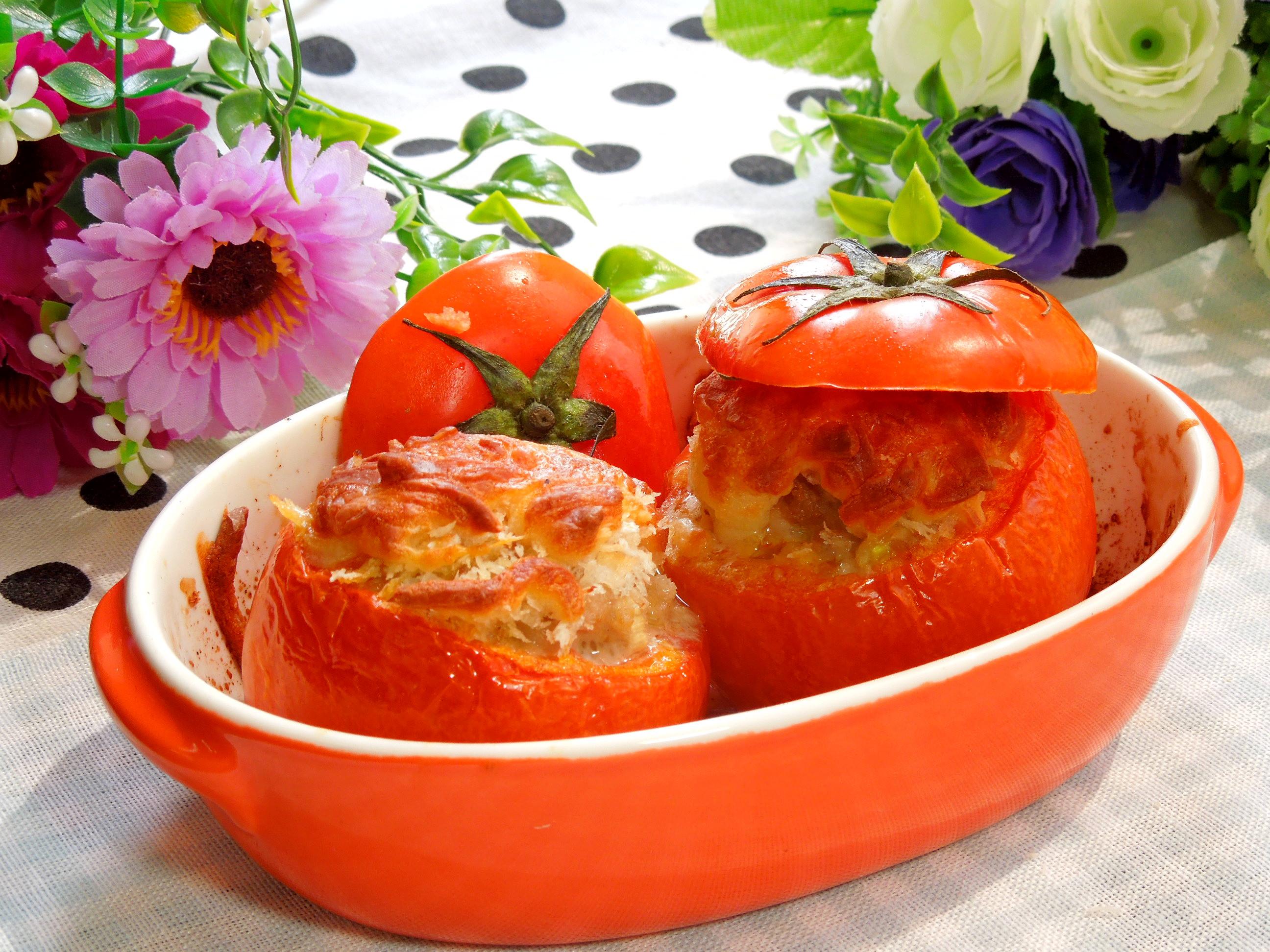 咖哩鑲番茄盅