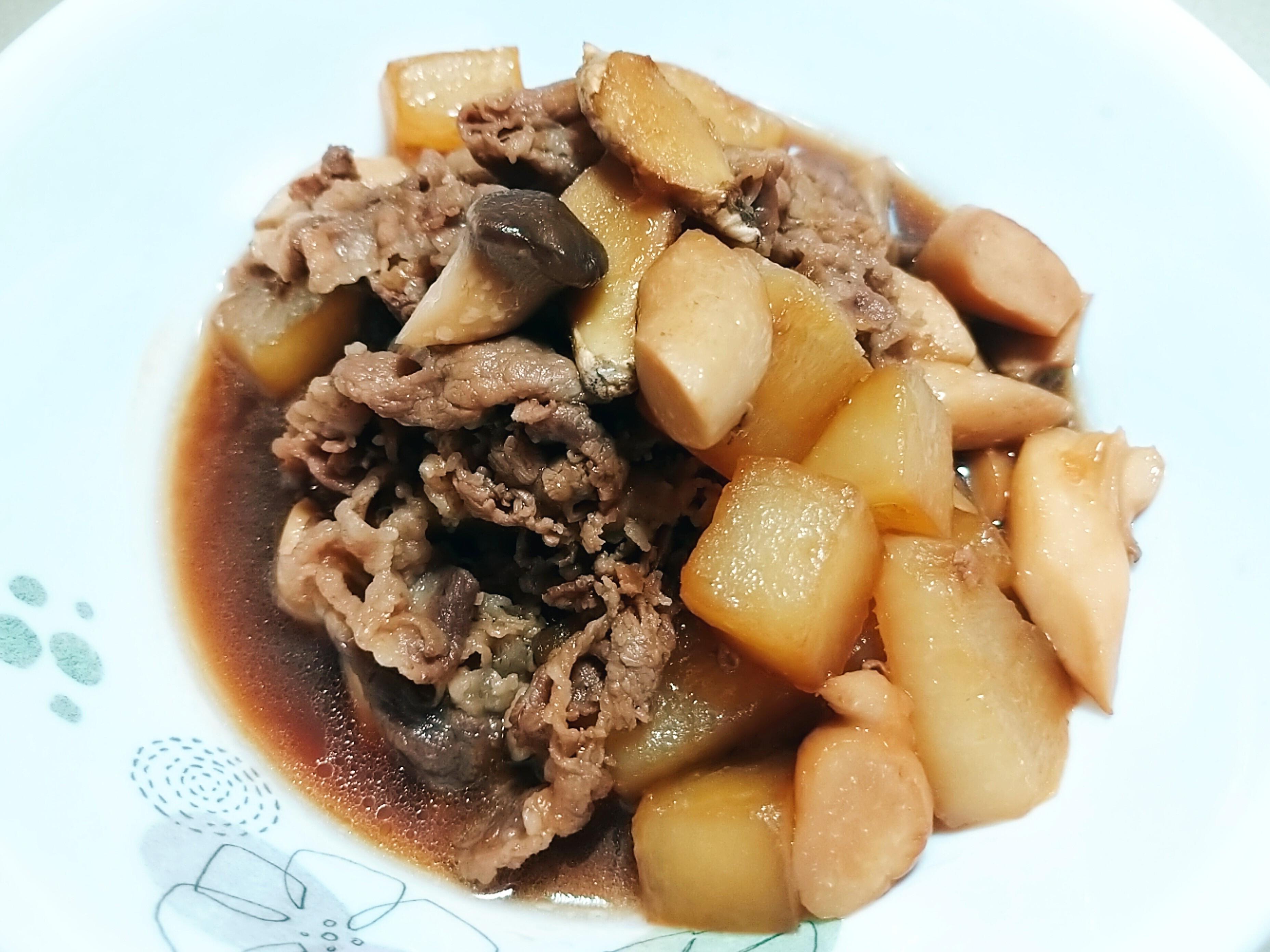 白蘿蔔牛肉日式醬油煮