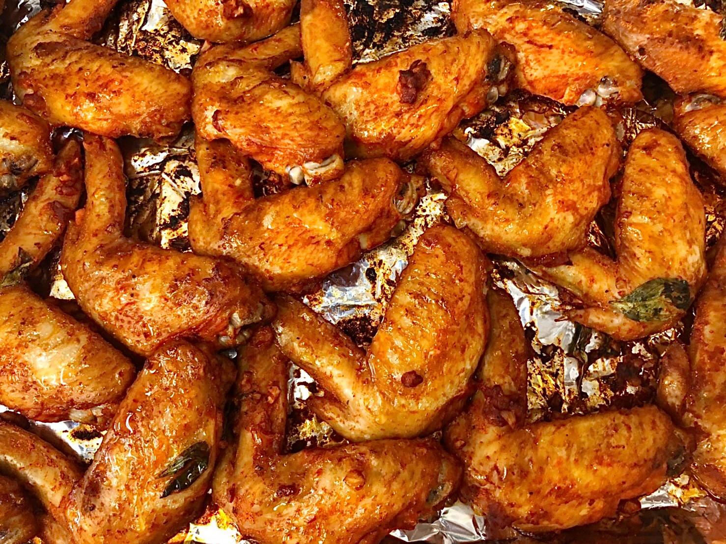 韓式香蒜辣烤雞翅