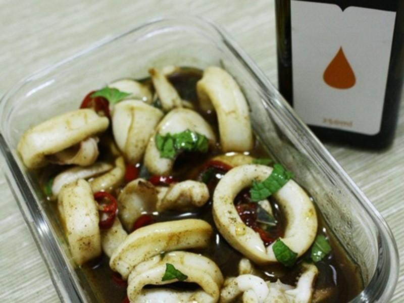 [薇達樂料理]陳年醋炒魚香透抽
