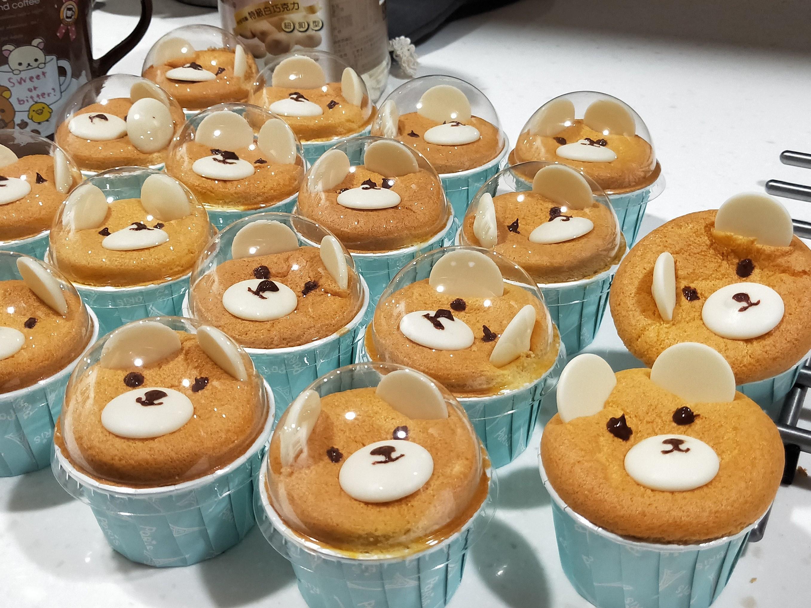 小熊杯子戚風蛋糕