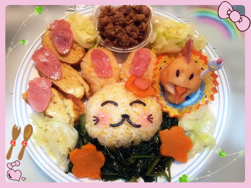 [親子飯糰]地瓜兔子飯糰