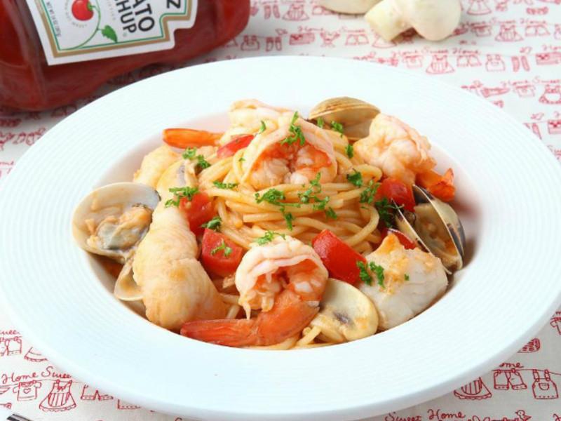 亨氏番茄醬 雙醬海味義大利麵