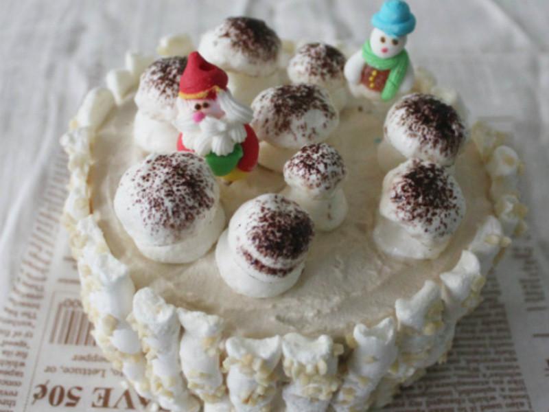 【肉桂打噴嚏】聖誕蘑菇森林蛋糕