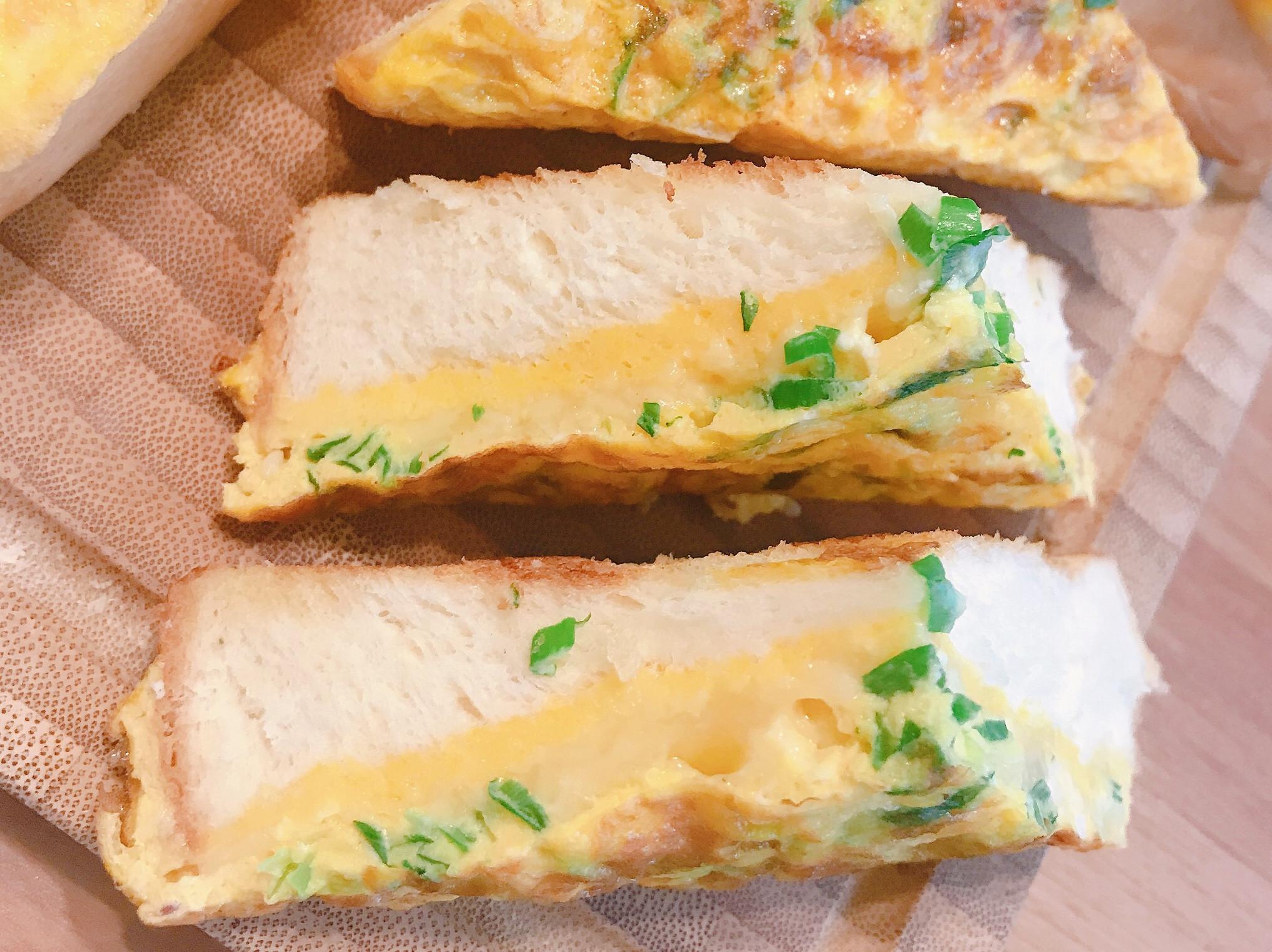 起司蔥蛋厚片吐司