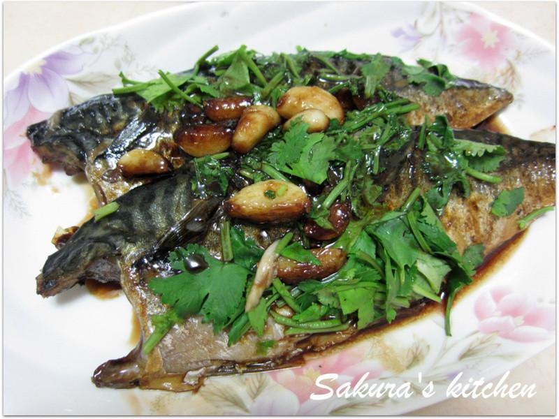 ♥我的手作料理♥蒜燒鹽鯖魚