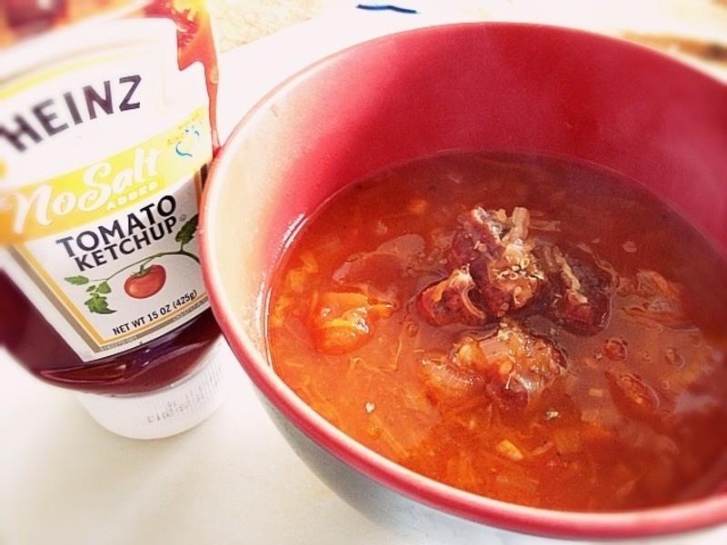 《羅宋湯》---亨氏無鹽低鈉番茄醬‧100%純天然