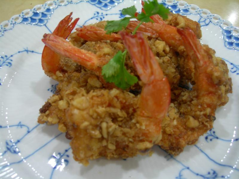 [黃金玄米油HOME炸料理]-香酥核桃蝦