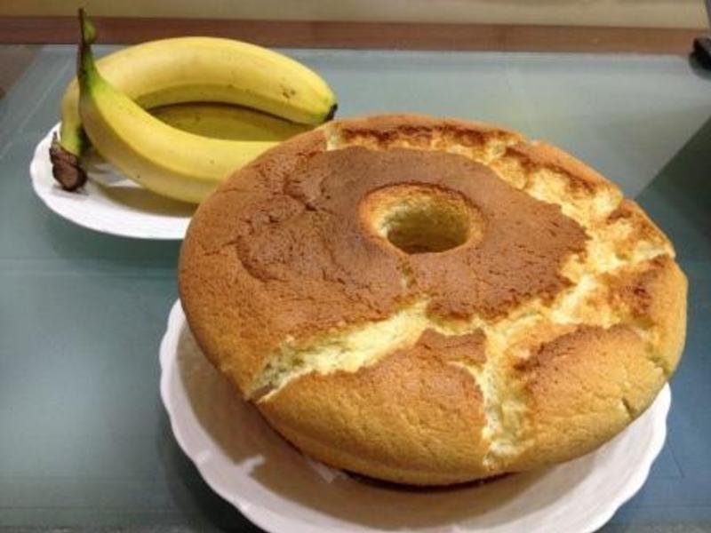 香蕉戚風蛋糕(Banana Chiffon Cake)