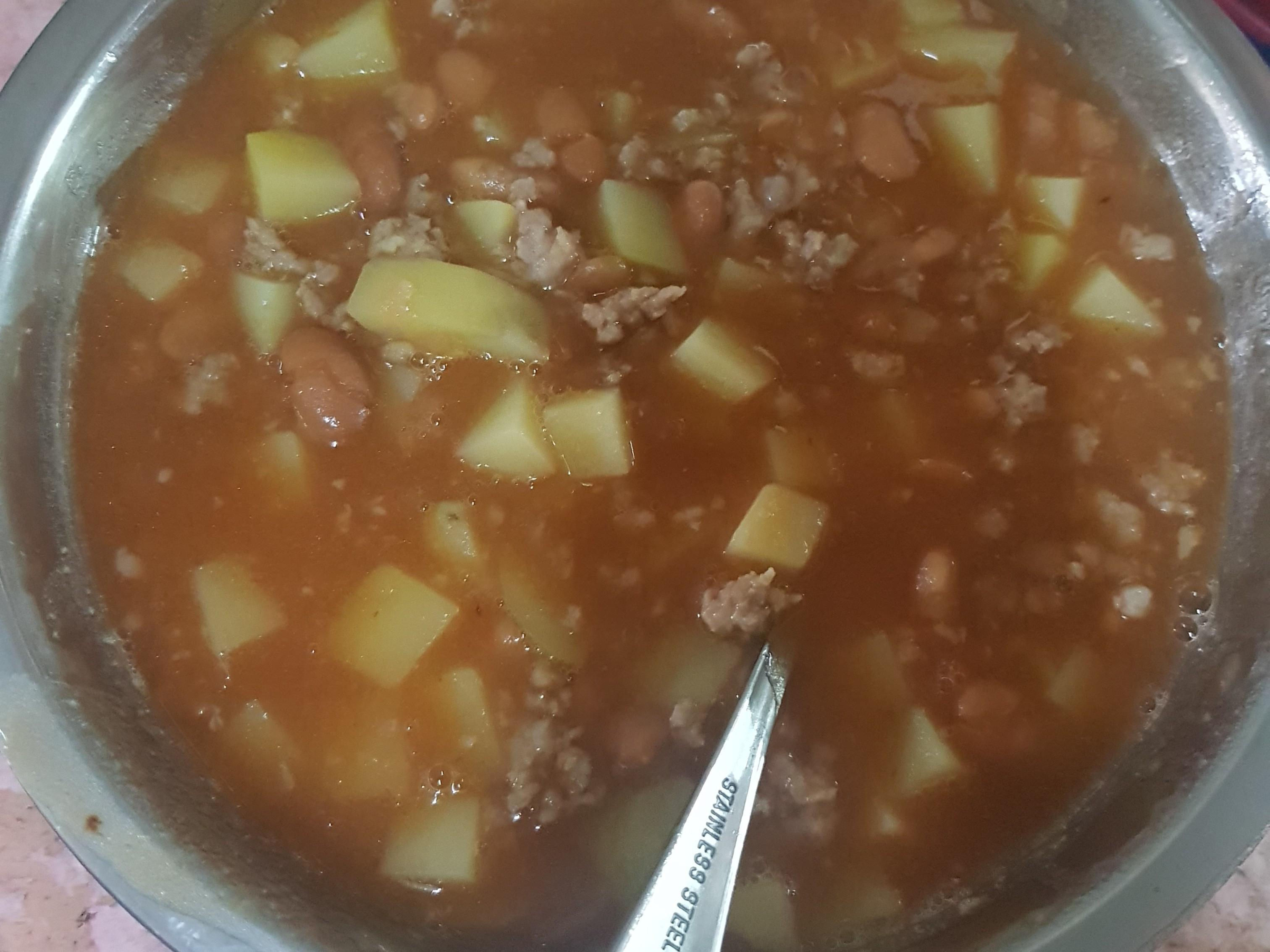 肉碎茄汁豆