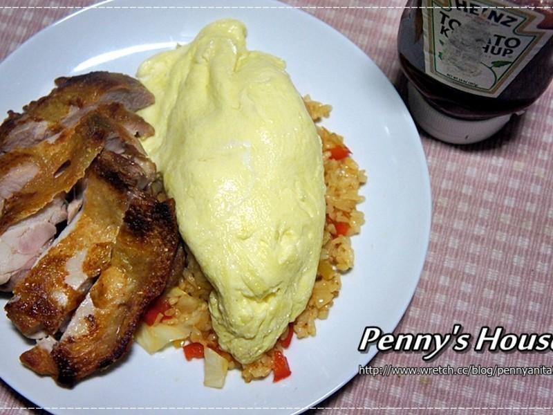【Penny's House】滑嫩番茄蛋包飯!我愛亨氏番茄醬!