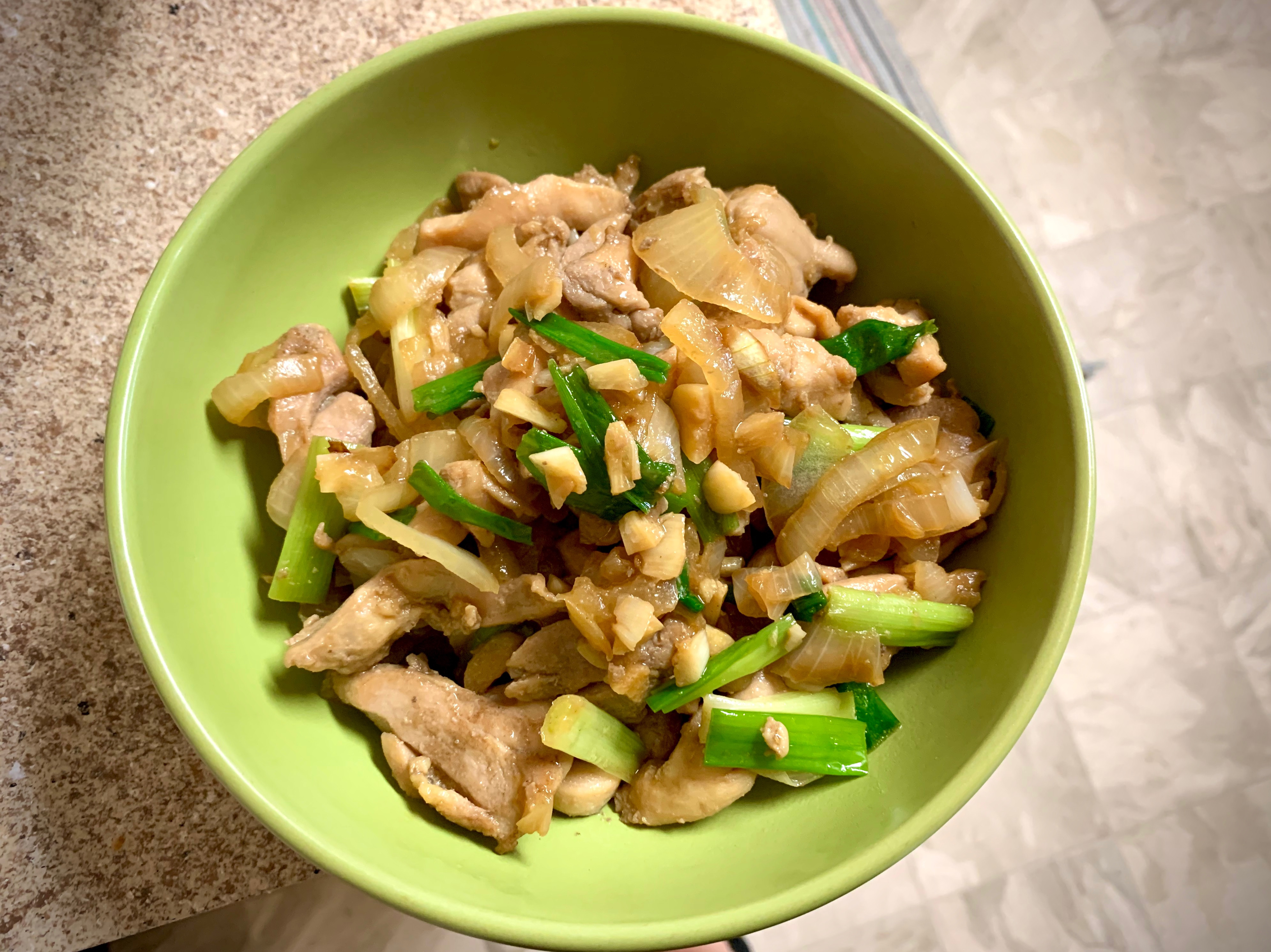 麻油蔥爆雞肉/豬肉