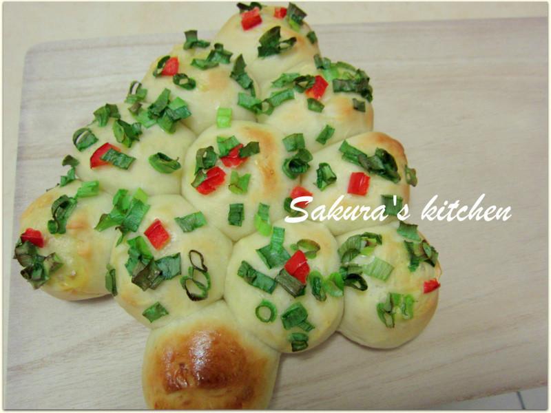 ♥我的金采耶誕♥聖誕樹麵包