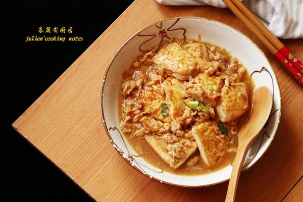 [金針菇肉末燒豆腐]簡單料理