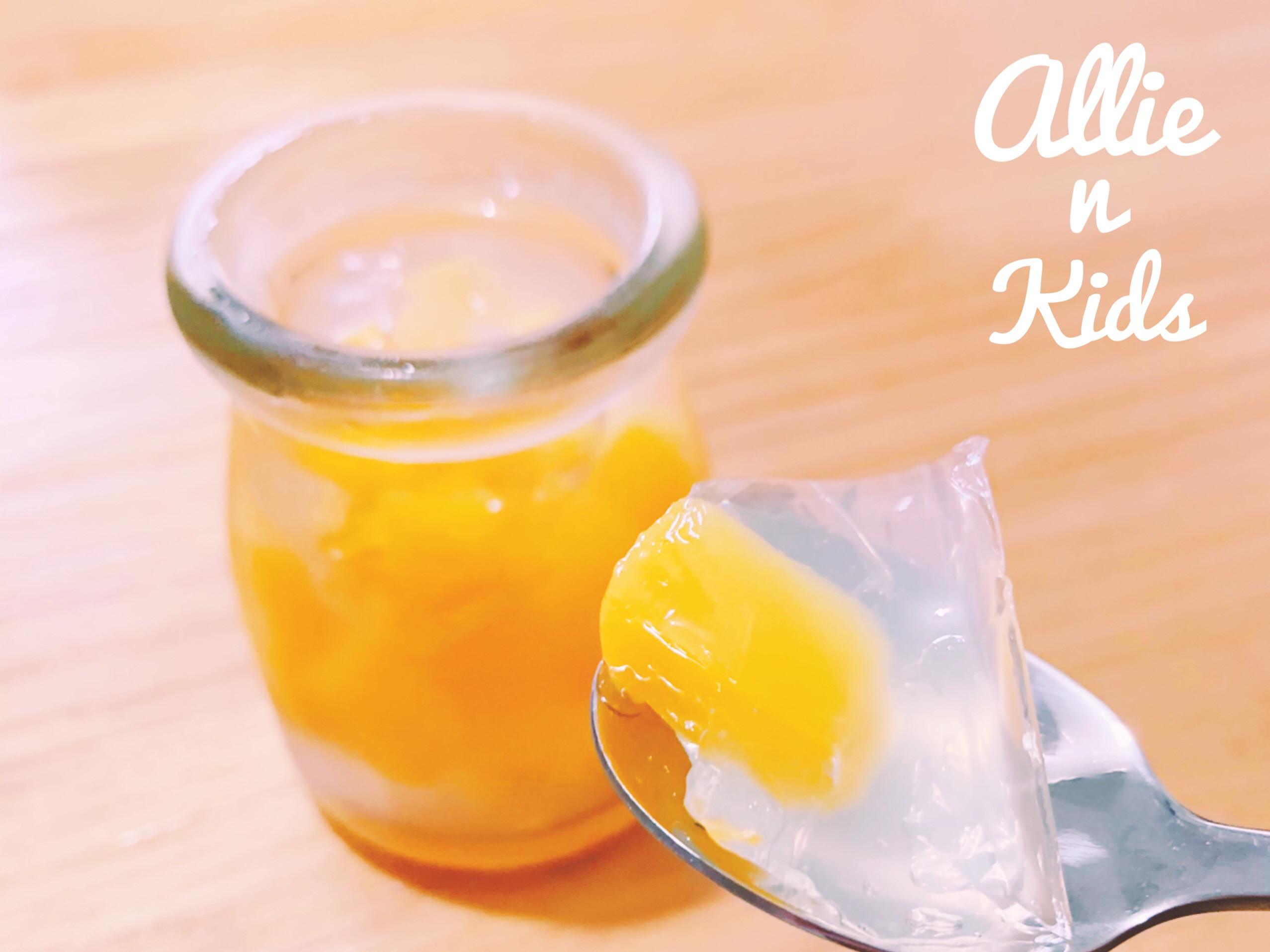 親子廚房❤️蜜桃果凍(洋菜版)
