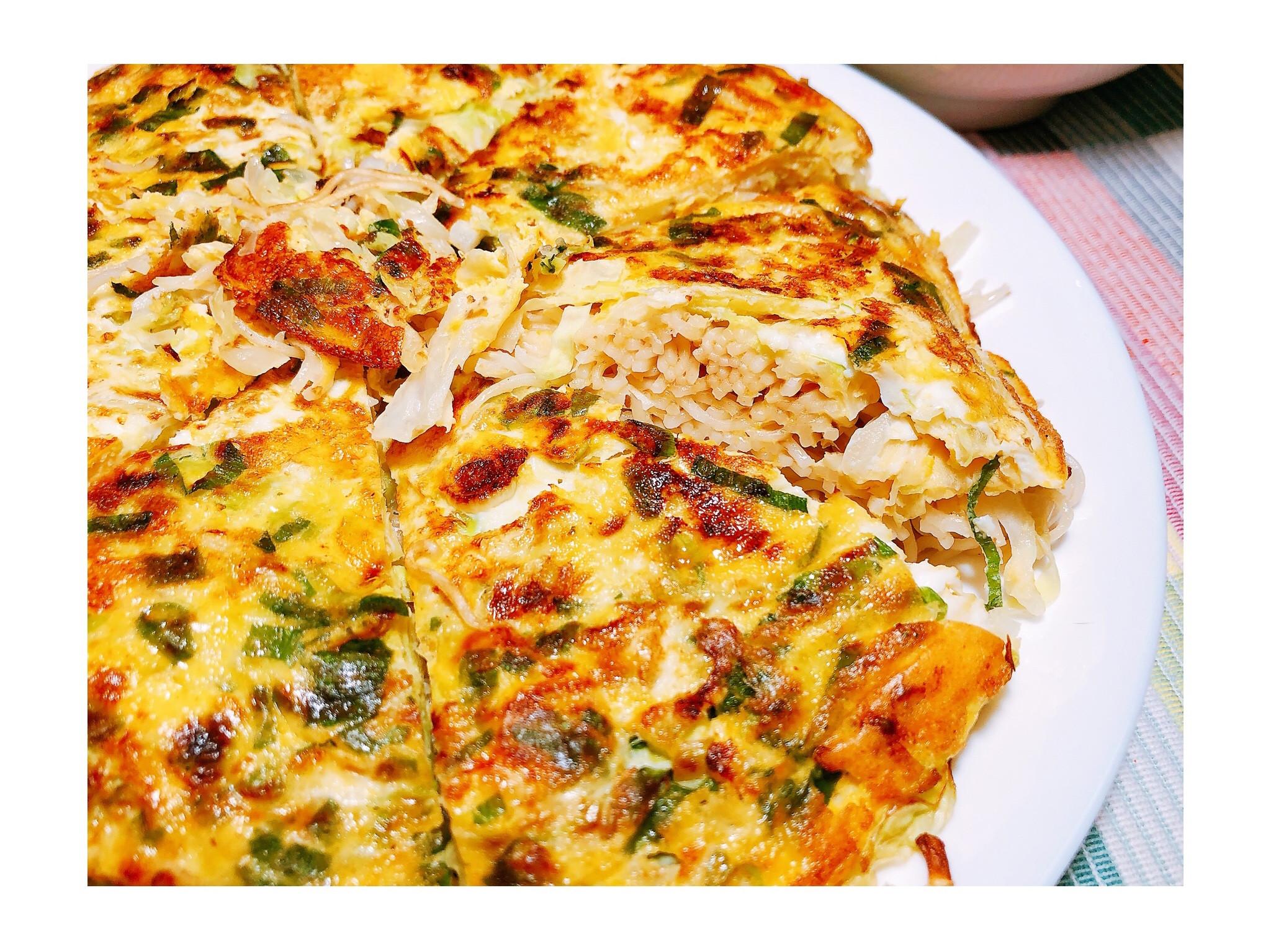 麻油麵線高麗菜煎餅