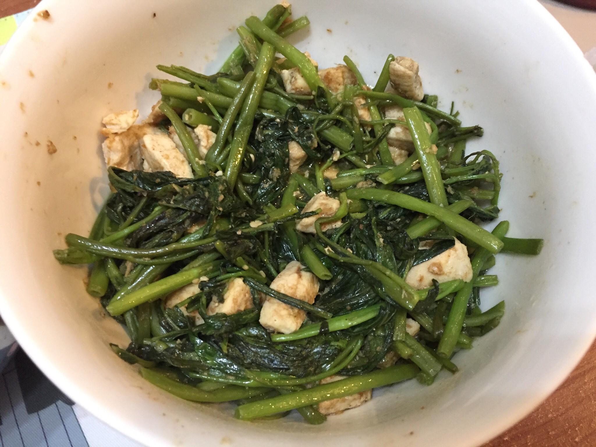 雞丁炒空心菜(沙茶口味)