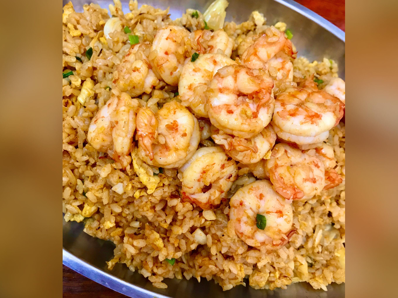 韓式辣醬鮮蝦蛋炒飯