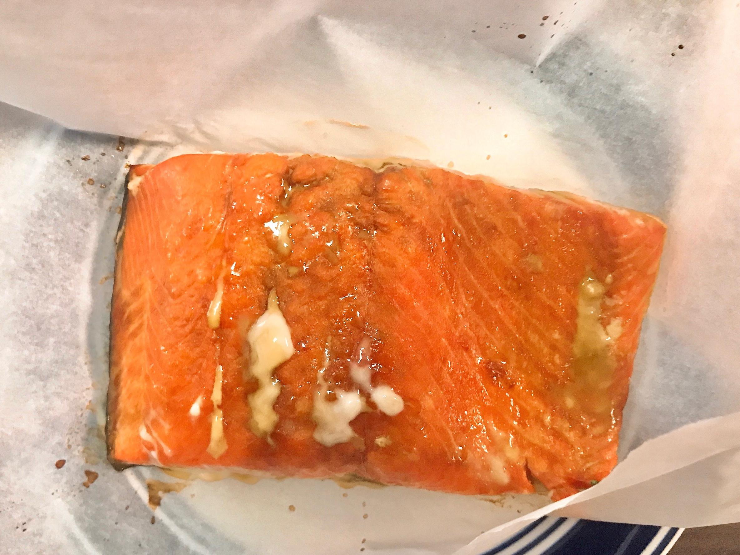 焦糖氣炸鮭魚
