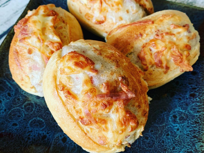[米菈的食譜]氣炸培根馬鈴薯半熟麵包