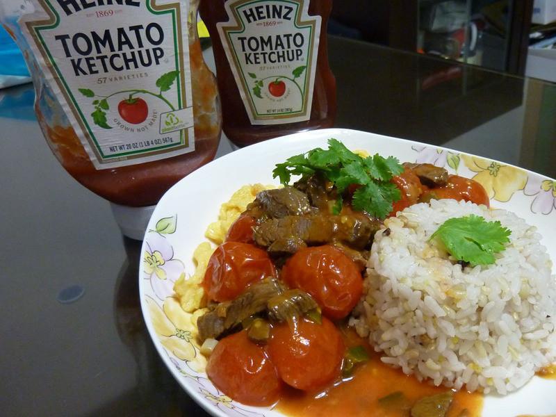 亨氏番茄醬100%純天然-滑蛋番茄牛肉飯
