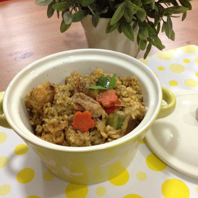 【吳双の愛妻便當】穀盛綠咖哩の綠咖哩雞肉燉飯