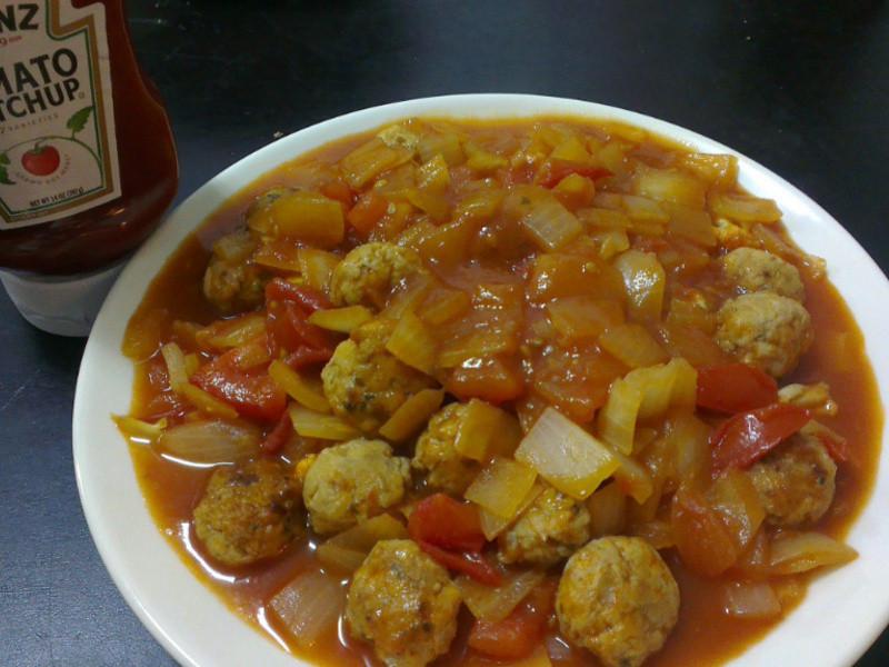 亨氏番茄醬 100%純天然~茄汁雞肉球~
