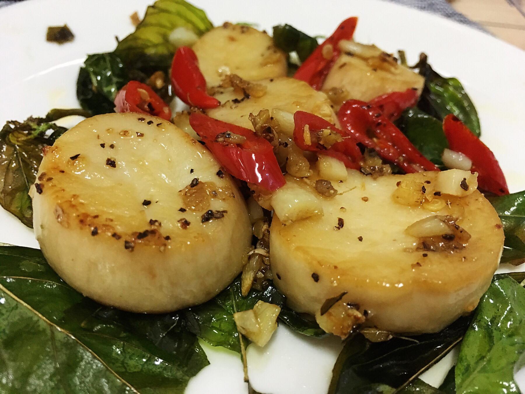 塔香素干貝(台式杏苞菇料理)