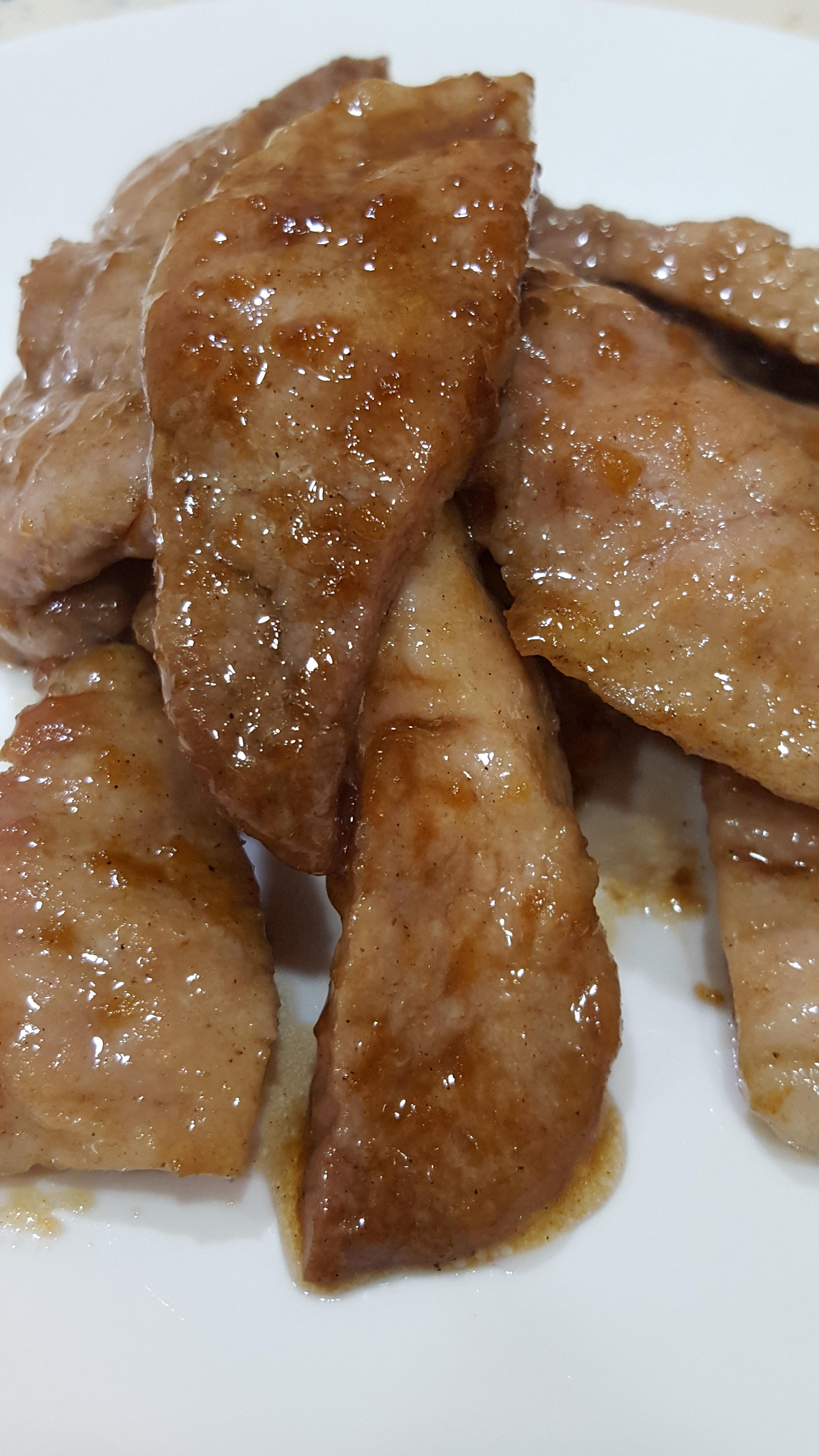 香甜厚煎烤肉片