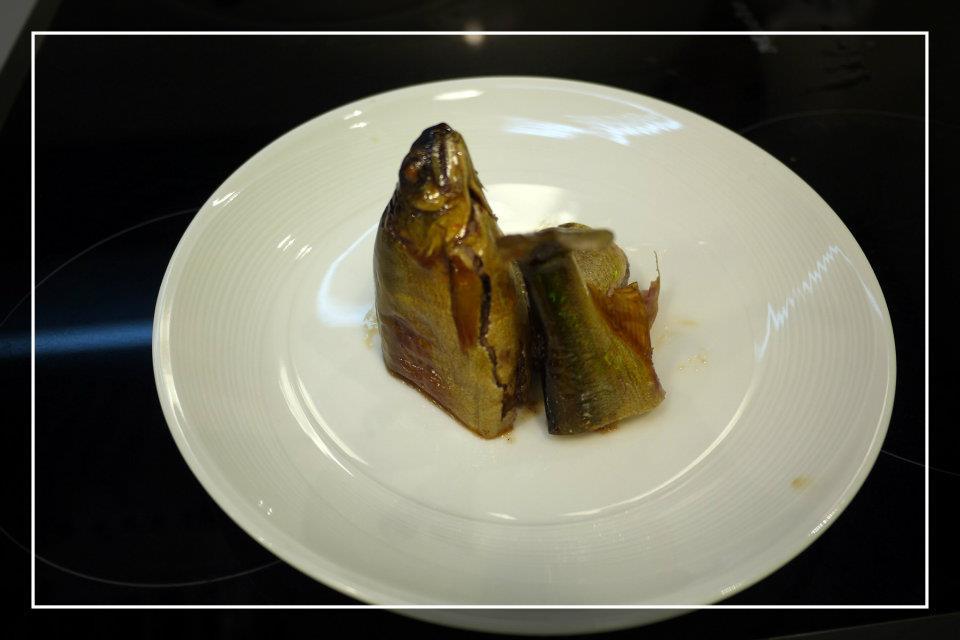 冷紫蘇燜香魚