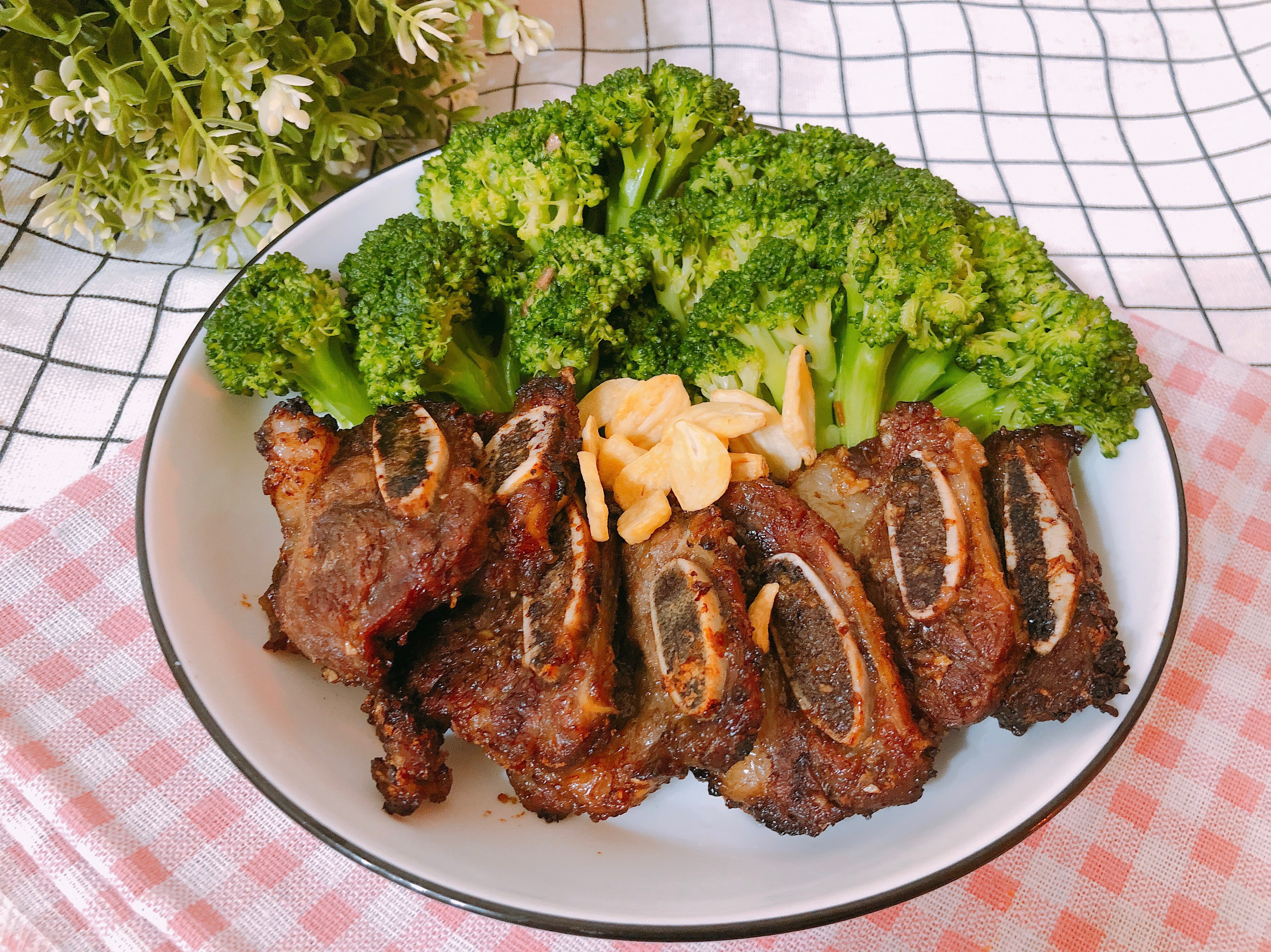 氣炸鍋料理-帶骨牛小排