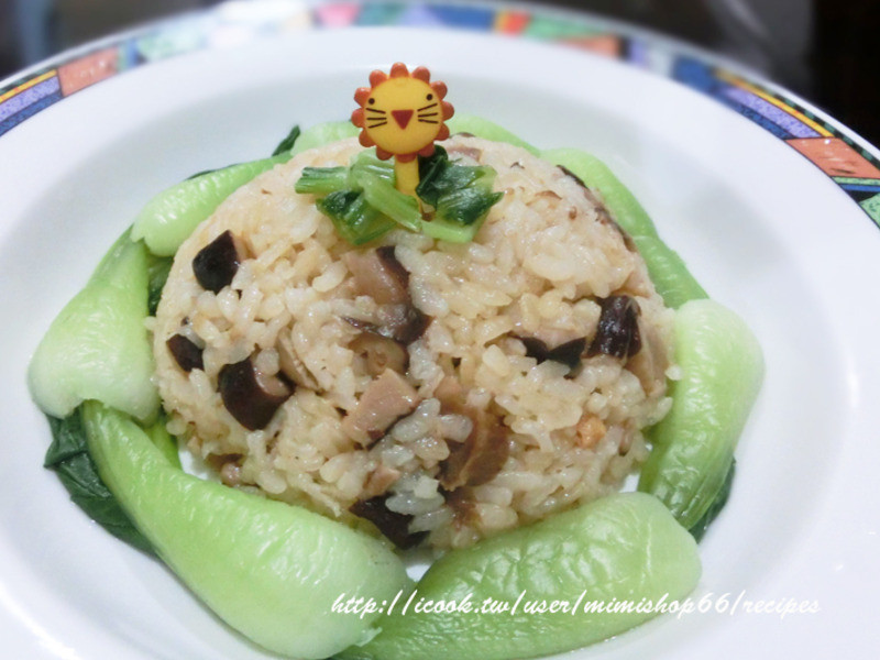 [大賀米好料理]肉燥菇菇飯