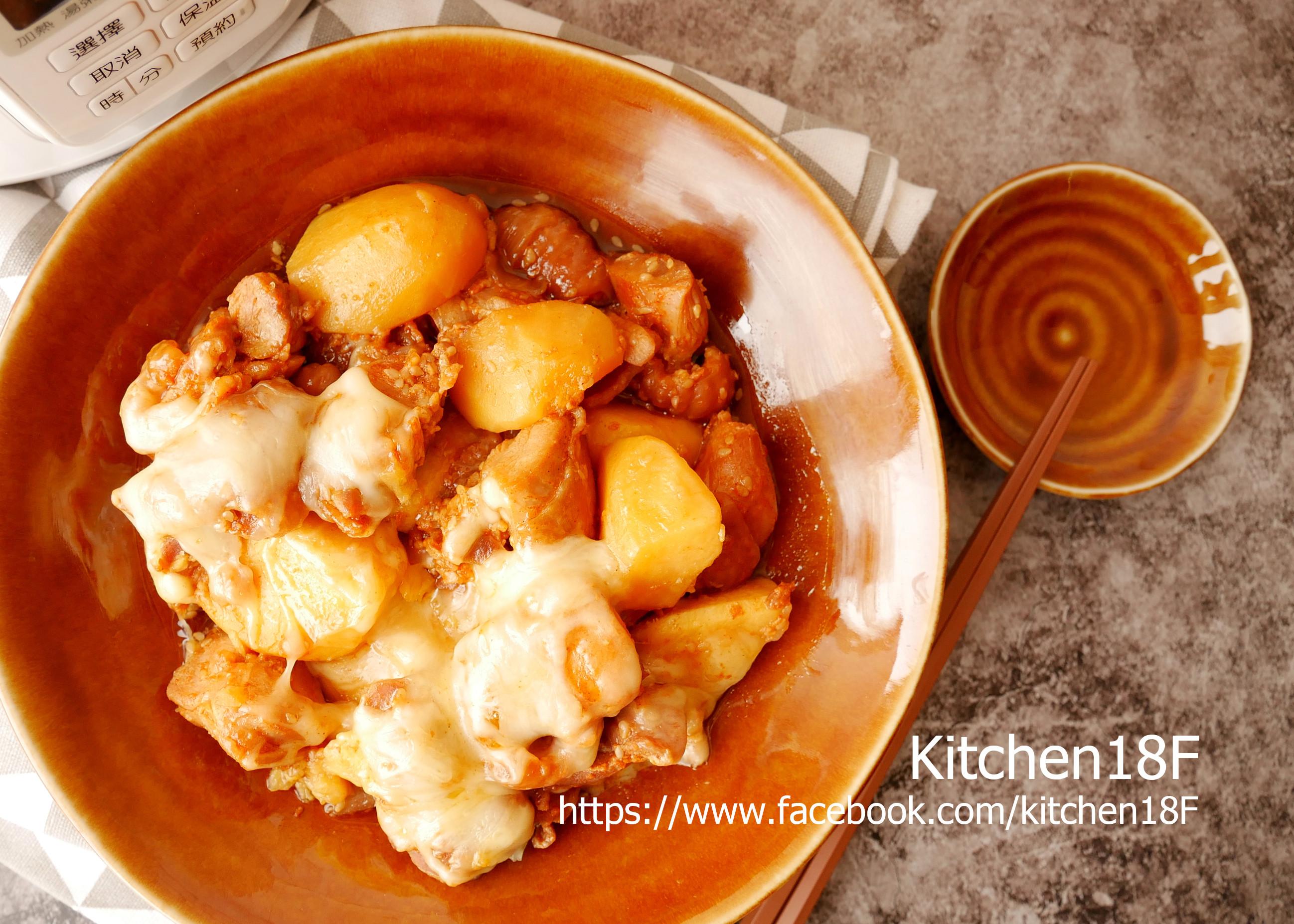 韓式起司地瓜雞_電鍋料理 零廚藝的美味