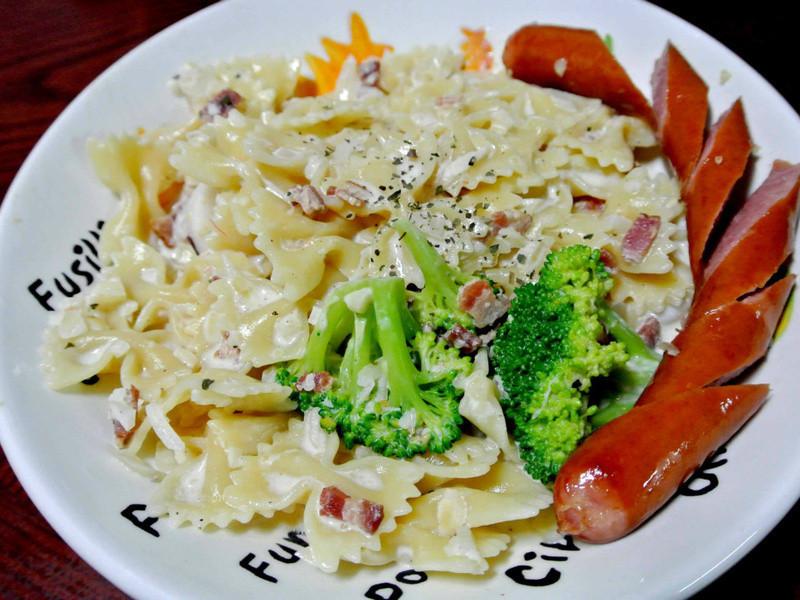 博客 奶油培根海鮮義大利麵