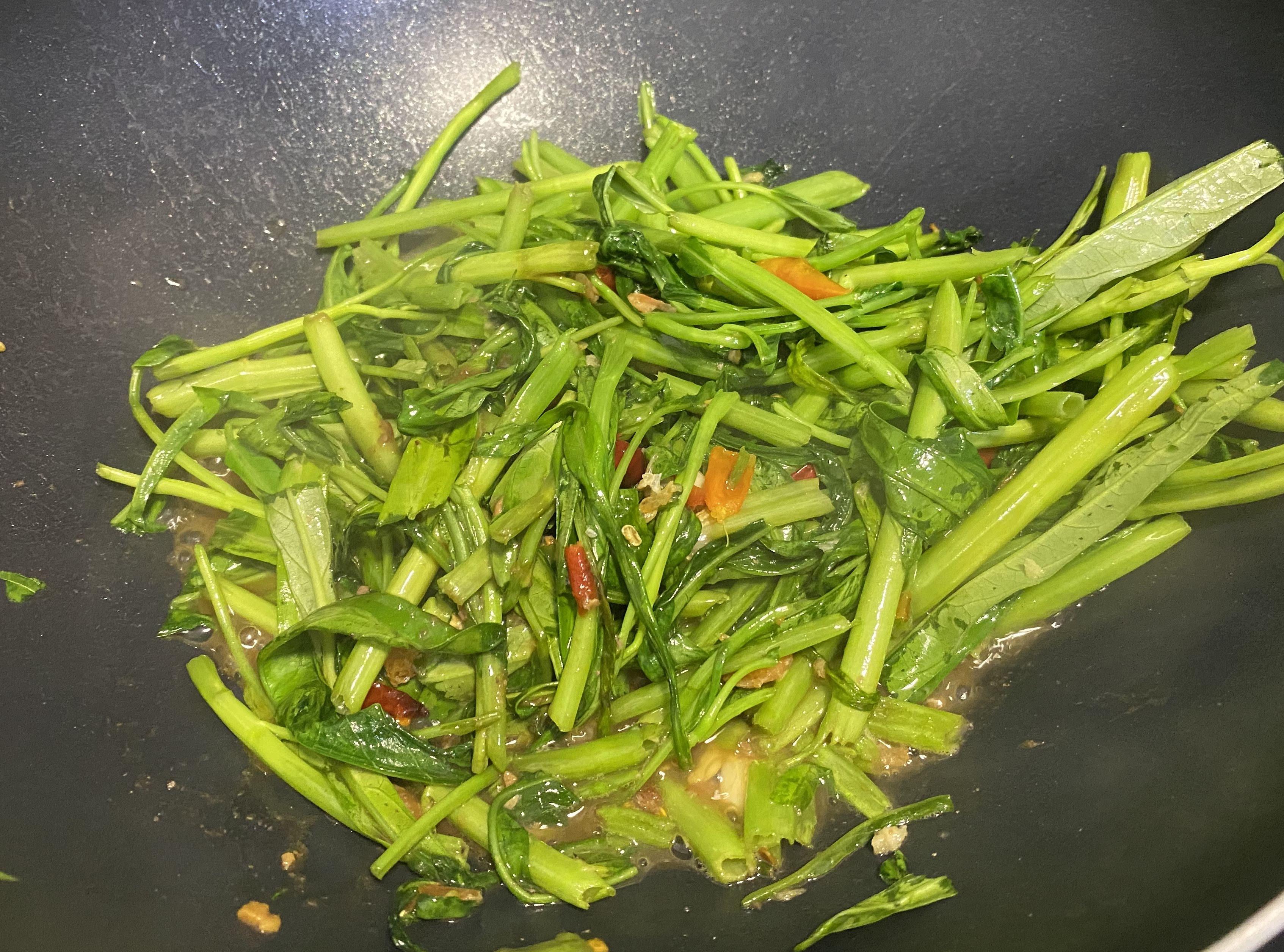 泰式辣炒蝦醬空心菜