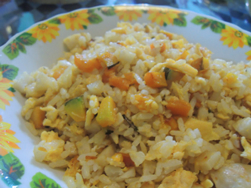 南瓜蛋炒飯