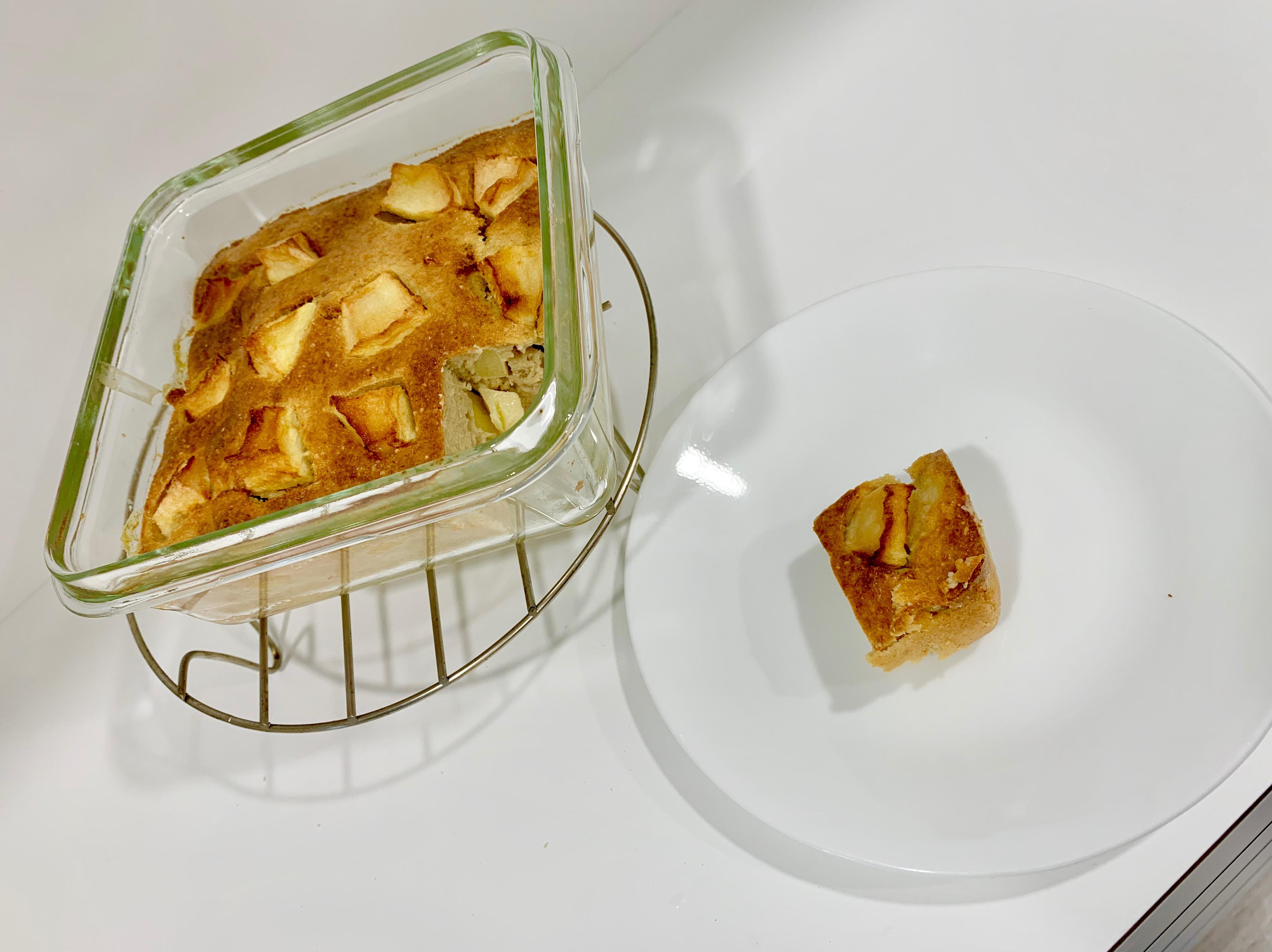 氣炸鍋副食品無糖無油無粉蘋果香蕉燕麥蛋糕