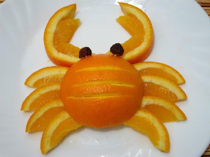 柳橙雕-螃蟹