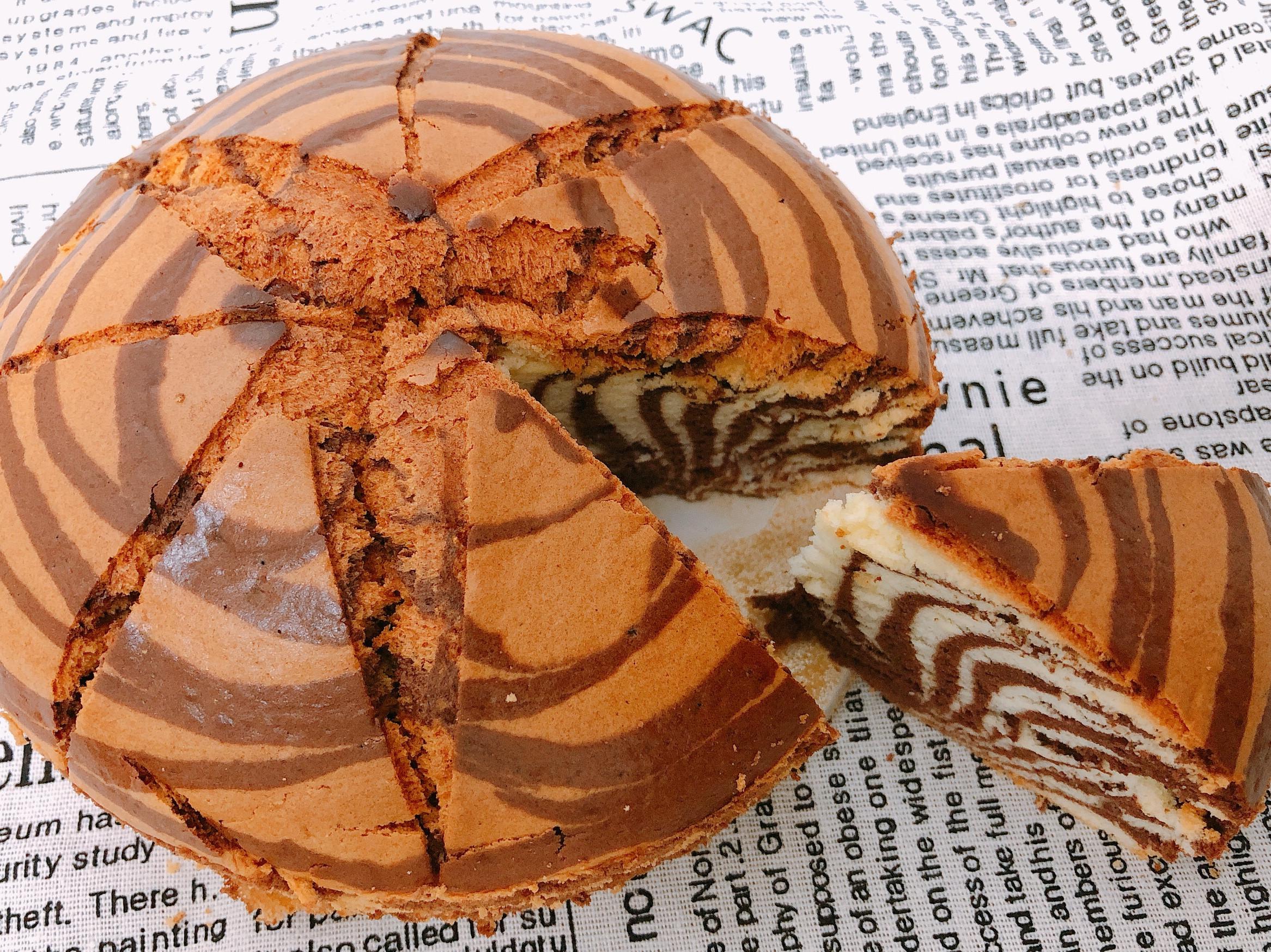 斑馬紋戚風蛋糕(氣炸鍋版)